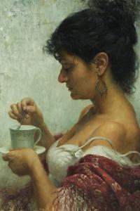 Scott Powers woman drinking tea