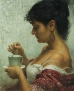 Scott Powers woman drinking tea