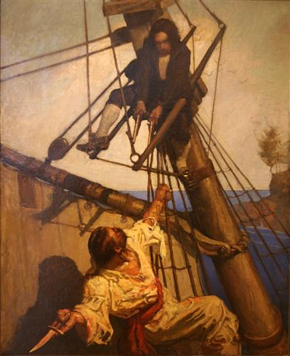 N.C. Wyeth illustration from Treasure Island